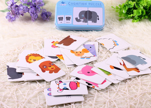 Image 2 - New Arrival Baby Toys Infant Early Head Start Training Puzzle Cognitive Card Vehicl/Fruit/Animal/Life Set Pair Puzzle Baby Gift