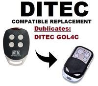 DITEC GOL4C Garagentor/Tor Fernbedienung Ersatz/Duplizierer festcode 433 92 Mhz-in Alarmanlage aus Kraftfahrzeuge und Motorräder bei