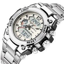 Stryve 8014/8018 мужские спортивные часы, военные 12/24 часовые электронные часы кварцевые цифровые часы из нержавеющей стали horloges mannen