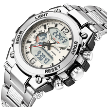 Stryve 8014/8018 Mens Sports Watches Military 12/24 Hour Electronic Clock Quartz Digital Stainless Steel Watch horloges mannen