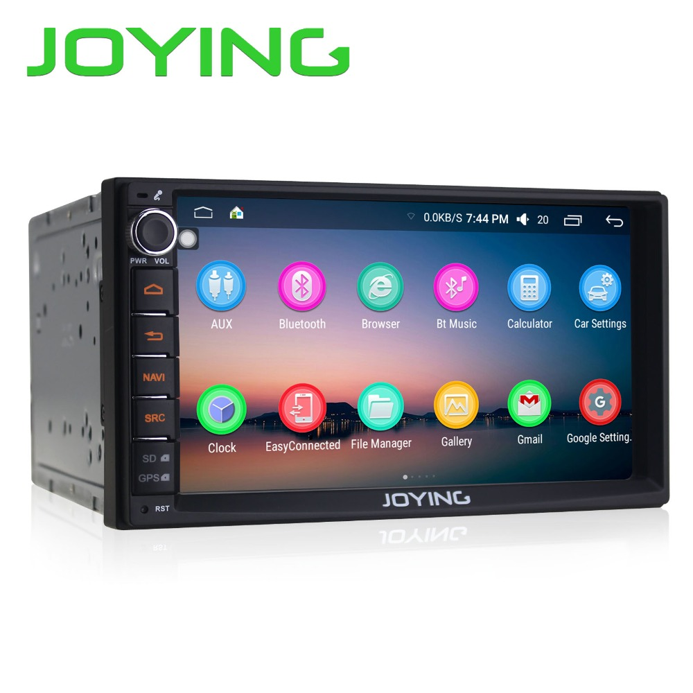 Joying 7 Double 2 Din Android 6.0 Media Player Universal Car Radio Stereo Quad Core GPS Navigator Head Unit Steering Wheel android 5 1 car radio double din stereo quad core gps navi wifi bluetooth rds sd usb subwoofer obd2 3g 4g apple play mirror link