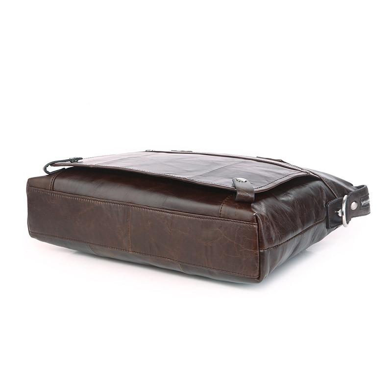Le Dans Véritable Portable Jmd Messager Coffee Hommes Sac De Mallette 100Cuir Dark À 7120c 1 Main SUqGLzMVp