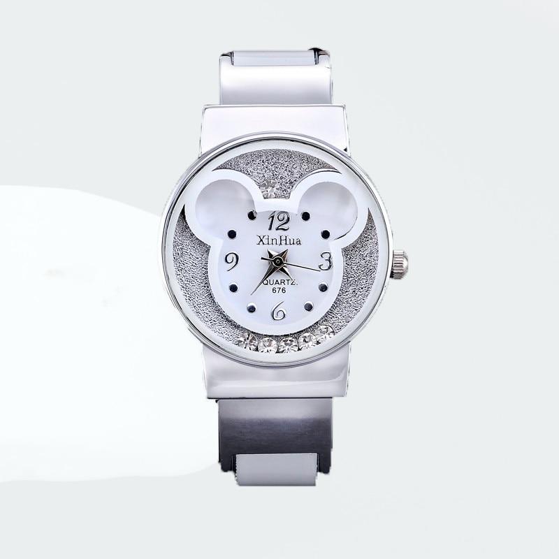 Watches Women Mickey Mouse Stainless Steel Women Watches Clock Ladies Watch Relojes Mujer Montre Femme Zegarek Damski 2019 Saati 1