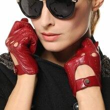 Элма Классические женские  Итальянская Наппа Кожа Перчатки для вождения, ELMA EL041N