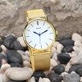 Geneve Relojes de Moda Banda de Acero Inoxidable de Las Mujeres A Prueba de agua Reloj de Pulsera de Cuarzo