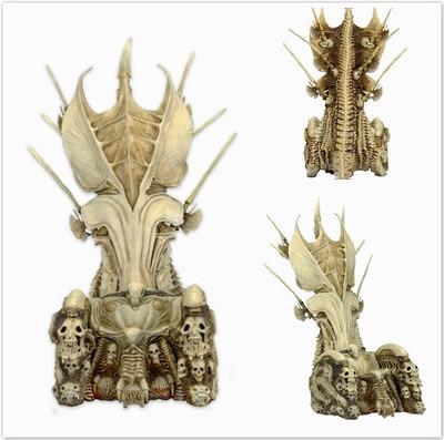 NECA Movie Predator VS Alien Science Monster Skull Seat Throne Elder Predator Toys Action figure Model цена