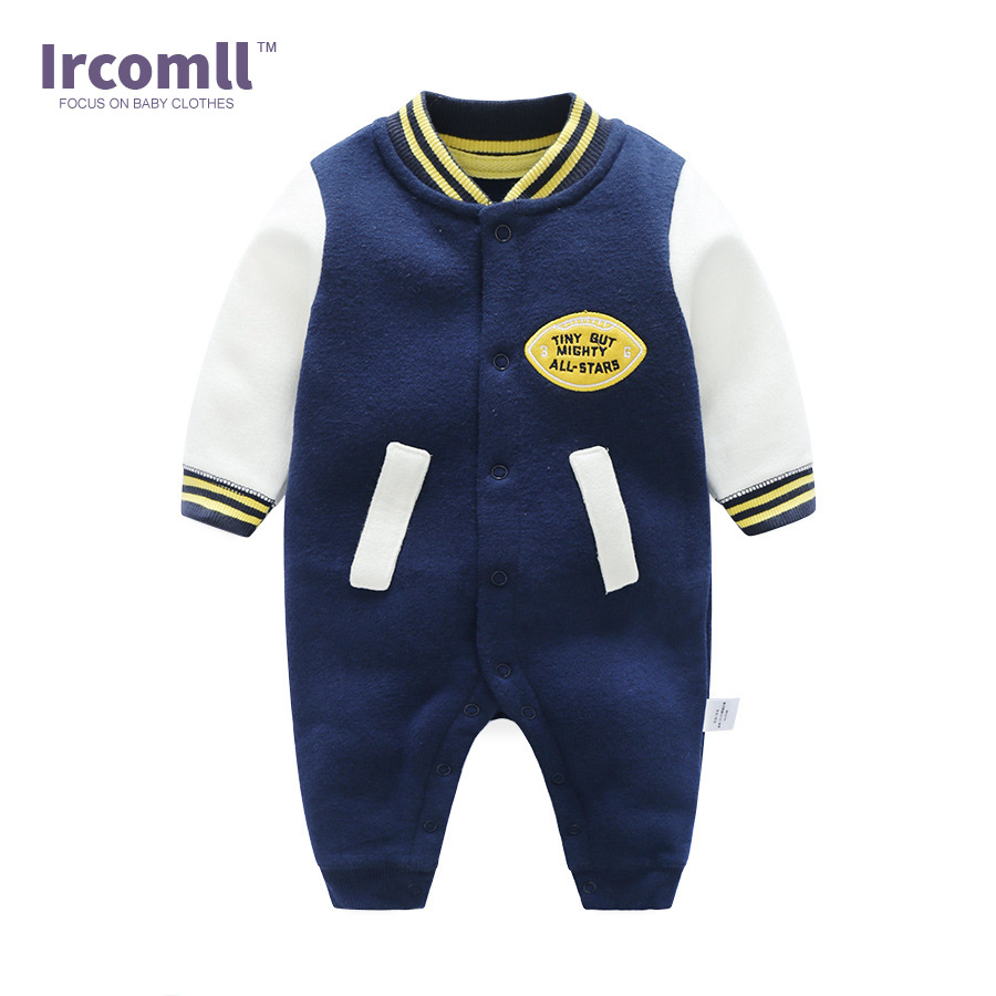 Newborn Baby Boy Girl Clothing Spring Baby Rompers Fashion Sweater Baseball Style Cute Infant Body suit Outwear Newborn Clothes mother nest 3sets lot wholesale autumn toddle girl long sleeve baby clothing one piece boys baby pajamas infant clothes rompers