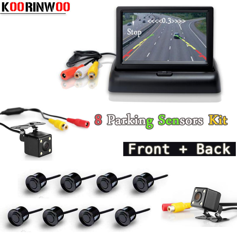 Koorinwoo Dual Core Car  Parking Sensors 8 Parking Assistance 4.3 Car Monitor Folding Radar Alarm Font Camera Rear view Camera Koorinwoo Dual Core Car  Parking Sensors 8 Parking Assistance 4.3 Car Monitor Folding Radar Alarm Font Camera Rear view Camera