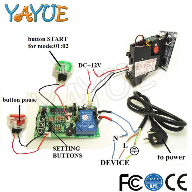 Us 23 22 8 Off Power Supply Timer Controller Board With 6 Kind Coin Acceptor For Arcade Vending Machine With 40cm White Lead Jy 15b In Coin Operated