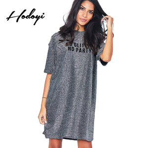 7ad27b64 Hodoyi Loose Straight Dress Sequined Female Knit Dress