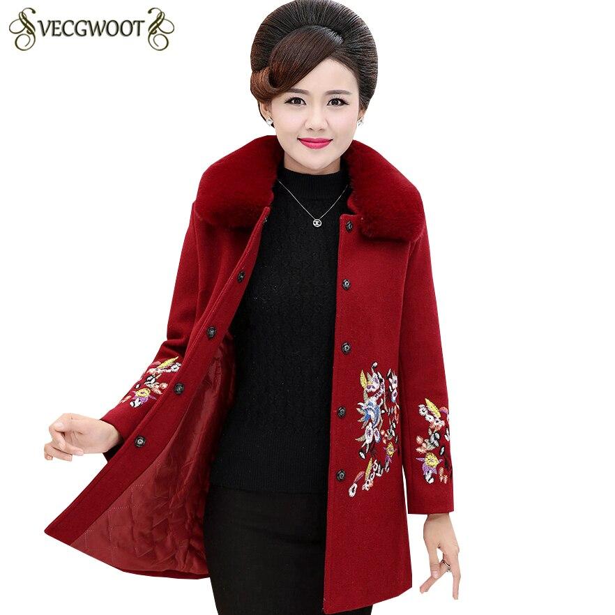 Manteau Fourrure D'hiver Slim 2019 red Long De Laine La Mode Plus Col Manches Purple Femelle Longues Femmes À navy Nouveau Taille S786 vdXxtqwn0