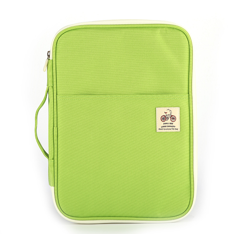 A4 File Bag Receives Office Information Portable Computer Bag Waterproof Oxford Cloth Filing Products File Folder Stationery