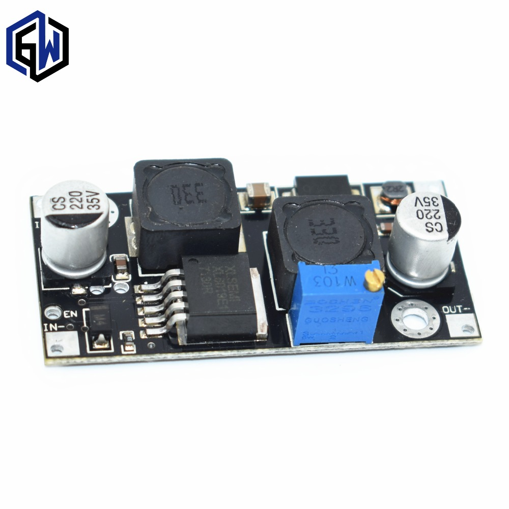 Xl6019 Xl6009 Upgrade Automatic Step Up Down Dc Adjustable To Circuit Converter Power Supply Module 20w 5 32v 13 35v In Integrated Circuits From