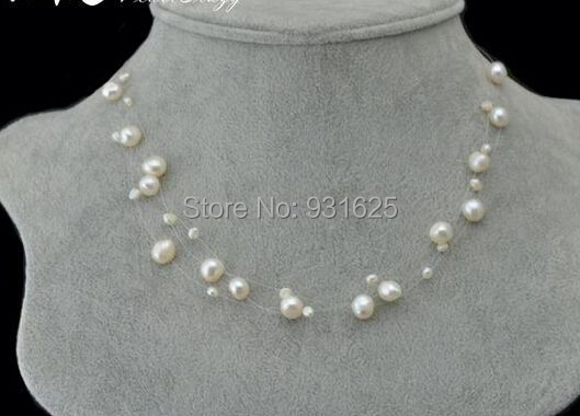 c24ec2b96c134 Starry sky women's Jewelry 3 Layer Mixed Real freshwater pearl Starriness  Necklace Bride Chain Necklace free shipping-in Choker Necklaces from  Jewelry ...
