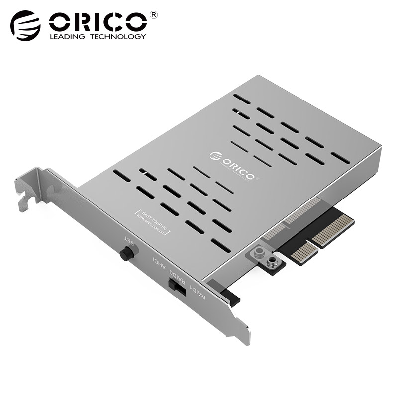 все цены на ORICO PRS2 Desktop Disk Array Card PCI-E M.2 SSD Stainless Steel High-speed Raid Hard Drive Expansion Card онлайн