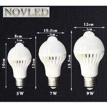 AC110V 220V E27 5W 7W 9W Smart Infrared Body Detection LED Bulb