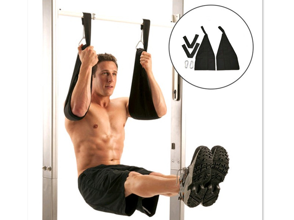 Home Fitness AB Cinghie Dell'imbracatura Addominale Cintura Appesa Chin Up Sit Up Bar Pullup Heavy Duty Allenamento Muscolare cintura di sostegno CrossFit