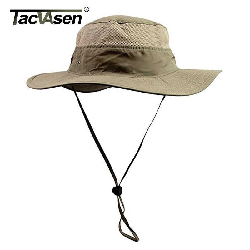 TACVASEN Men Boonie Hat Summer Sun Caps Tactical Sniper Hats Men s Military  Nepalese Quick Dry Hats b8e2d6957