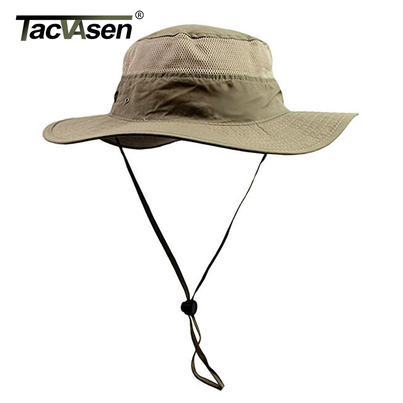 TACVASEN Men Boonie Hat Summer Sun Caps Tactical Sniper Hats Men's Military Nepalese Quick Dry Hats Hunt Accessories TD-GZQF-001