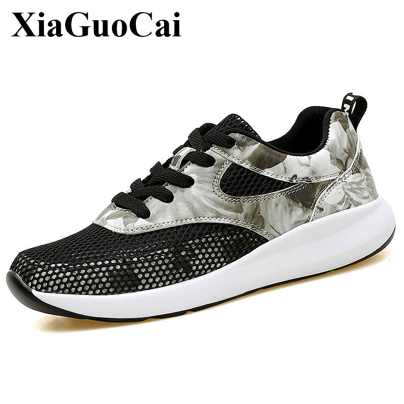 Summer Casual Shoes Women Hollow Breathable Mesh Lace-up Flats Shoes Fashion Light Soft Wear Resistant Waliking Shoes H365 35
