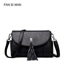 7c824ebfa3 Fansiman Advanced Pu Leather 2018 New Women Fashion Shoulder Commuting Bags  Fashion Female Crossbody Package Slight Solid Color