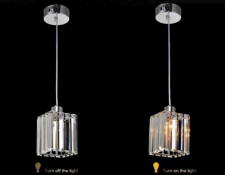 Modern Square Crystal Pendant Light Lamp Dining Room Kitchen Crystal Ceiling Fixture Light ampara colgante de cristal de cocina