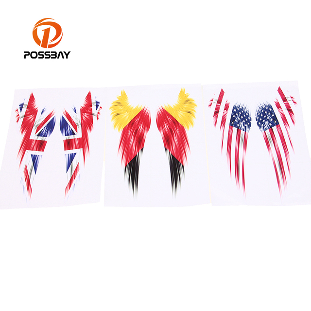 America united states german gb uk possbay flag wings truck motorcycle window