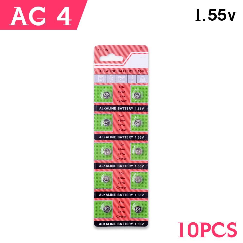 Wholesale 10pcs/lot total 1cards AG4 377A <font><b>377</b></font> LR626 SR626SW SR66 LR66 button cell coin Watch <font><b>Battery</b></font>