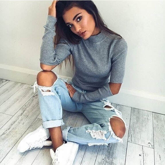 turtleneck off shoulder knitted sweater women autumn Fashion tricot pullover jumpers Pull femme oversized capes