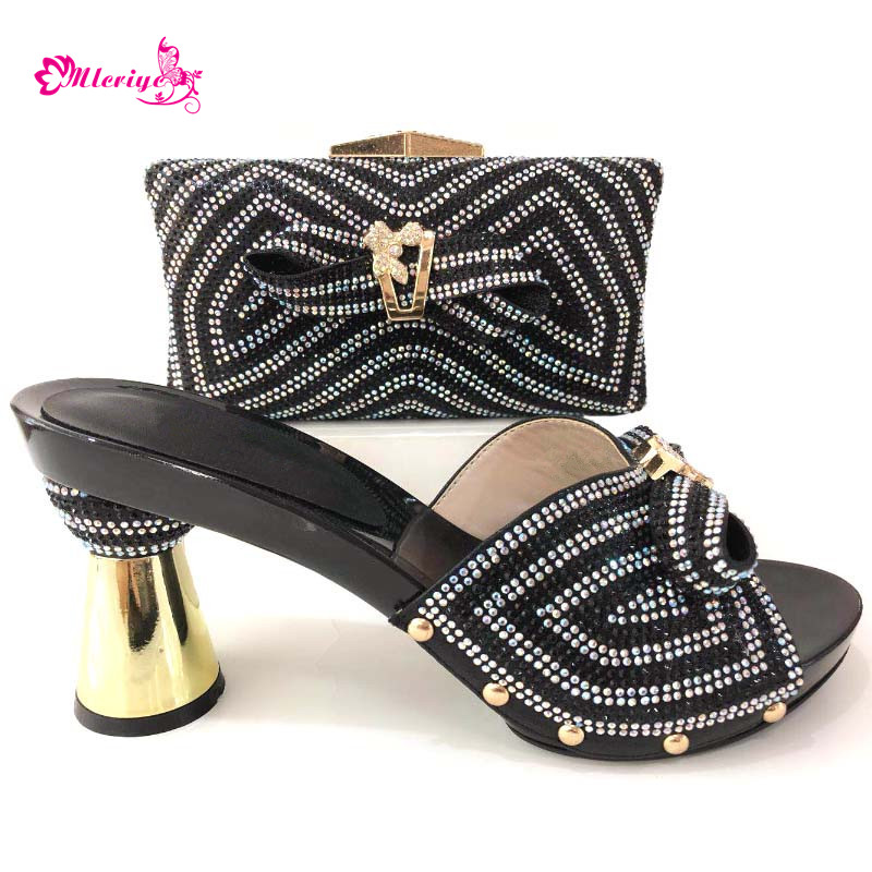 цены New Arrival Matching Shoes and Bag Set Women Shoes and Bag Sets High Quality Women Italian African Party Pumps Shoes and Bag Set
