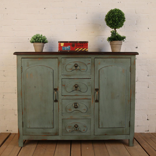 Rustic Wood Retro Storage Cabinet Old Craft Lockers Living Room Sideboard  Entrance Counters Accessories Decor