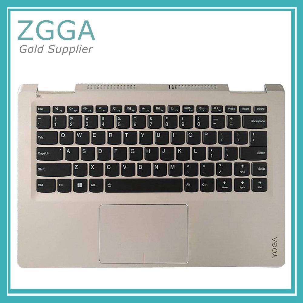 Original Notebook Upper Case For Lenovo Yoga 710-14ISK 710-14 Laptop Palmrest with US Keyboard Backlit new original lenovo yoga 710 15isk 710 15 palmrest upper case keyboard bezel cover