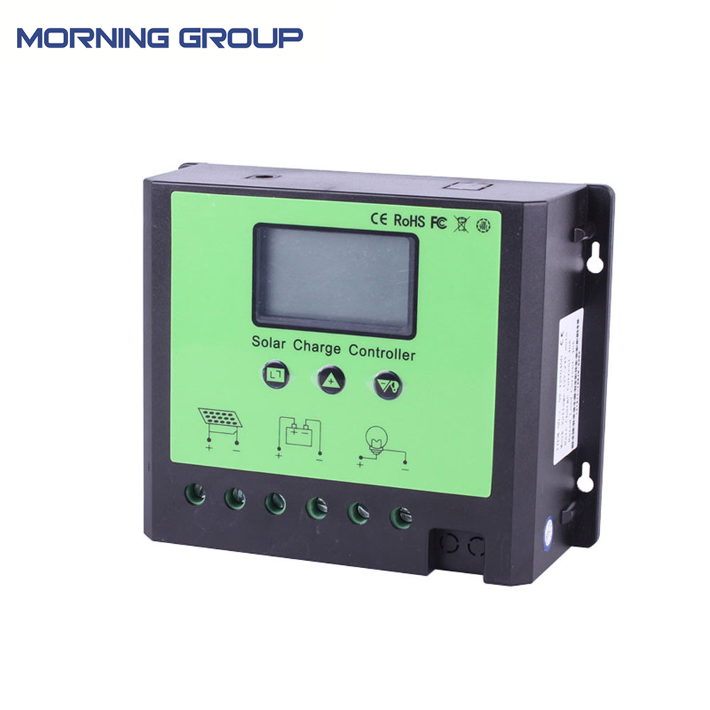 40A 50A 60A Intelligent PWM Solar Panel Regulator Charge Controller with LCD Display 12V 24V 48V Auto Detect 40a 12 24v pwm solar charge controller engineering premium quality com rs232 with pc