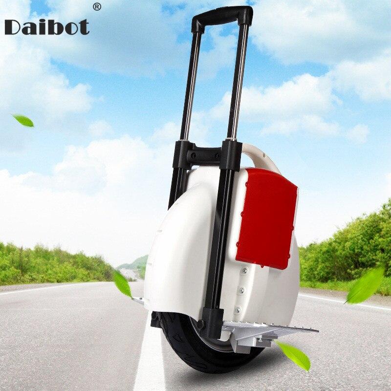 Daibot Scooter électrique adulte une roue auto équilibrage Scooters 14 pouces 60V 350W Portable électrique Balance monocycle avec tige de poussée
