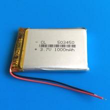 Polímero De Lítio bateria Recarregável Li-ion 1000 mAh 3.7V bateria Lipo 503450 053450 para telefone inteligente DVD mp3 mp4 câmera Lâmpada Led