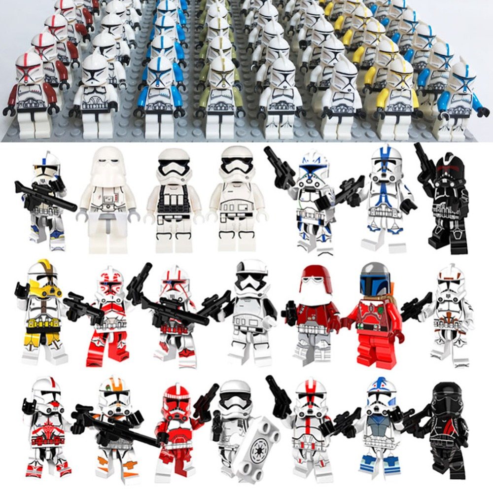 Legoed Star Wars First Order Imperial Stormtrooper Clone Soldier StarWars Toys For Children Building Blocks Lepins Toy Blocks