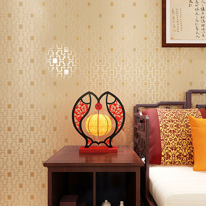 New vintage Modern minimalist Chinese wallpaper 3d precision embossed window pattern living room bedroom store wall papers in Wallpapers from Home Improvement