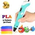 Dikale 3D печать ручка 2-го поколения светодиодный экран Impresora 3D Imprimante Stift карандаш PLA нити для детей и взрослых DIY Художественный подарок
