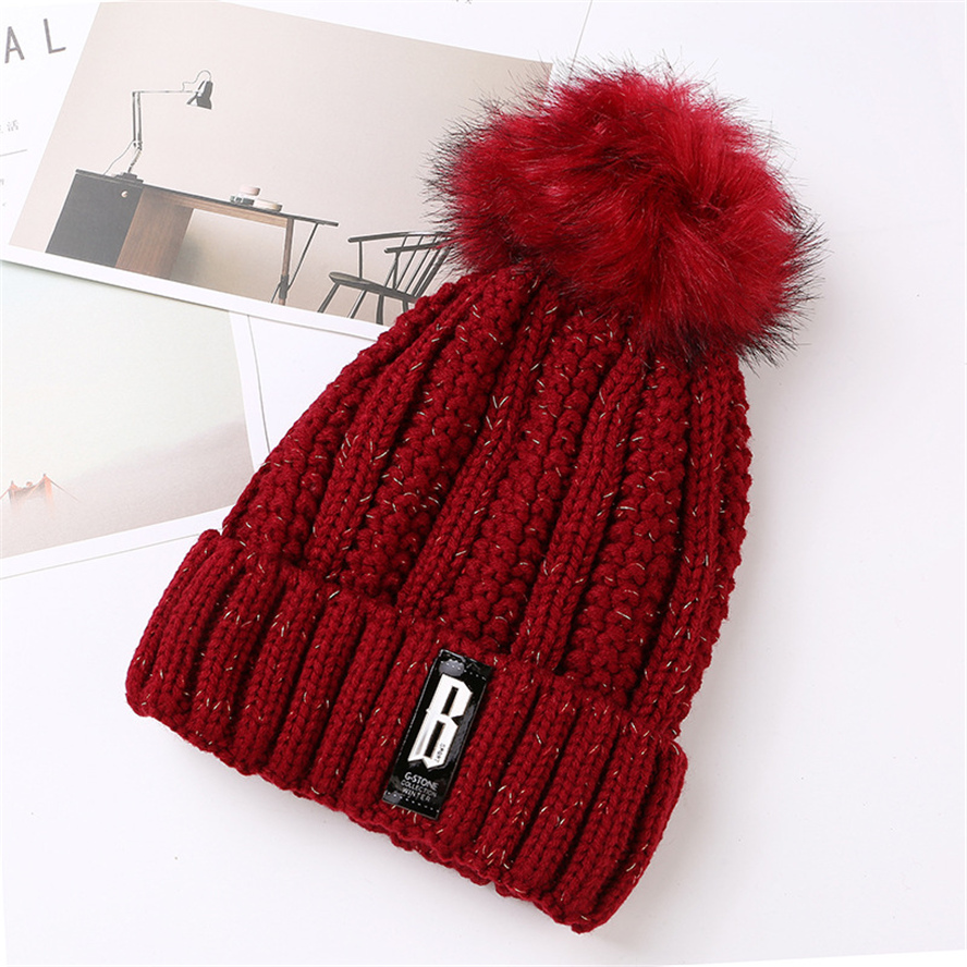 Liva Girl High Quality Hat Winter Natural Raccoon Fur Warm Caps Female Pom Pom Hats Ladies Fashion Skullies Beanies Cap hot skullies beanies winter hat pom pom caps for women girl vintage solid hemming warm spring autumn hat female wsep21