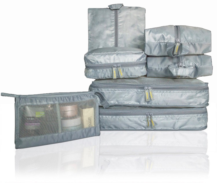 7 шт./компл. путешествия багажа организатор для одежды / обуви / нижнее белье сумка для хранения туалетных принадлежностей мешок семь костюм бесплатная доставка
