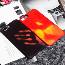 Thermal Sensor Fluorescent Color Changing PC Phone Case For iphone 6 6S 8 Plus X 5SE 5 5S Capa Fundas for iPhone 7 7Plu