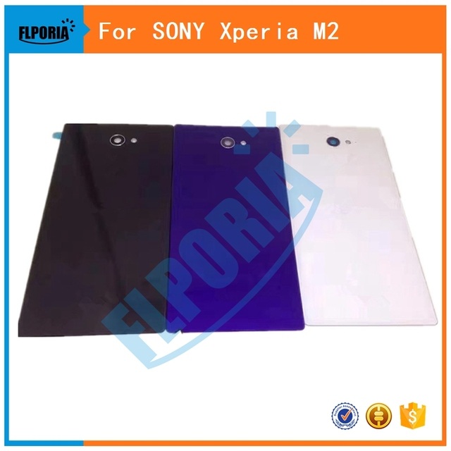 1PC For SONY Xperia M2 D2302 D2303 D2305 Back Battery Cover Rear Door Housing Case Replacement For SONY M2 Battery Cover