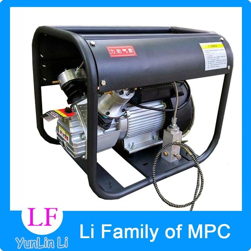 220 V pompe à Air électrique 2.2KW pompe à Air Double cylindre haute pression Paintball compresseur d'air pour fusil à Air comprimé