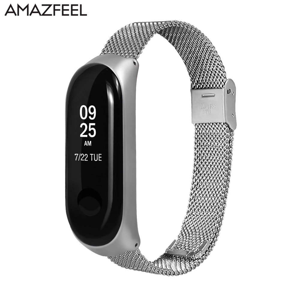 Stainless Steel Mi Band 3 Strap Metal for Xiaomi Mi Band 3 Bracelet Mi Band 2 Wrist Strap MiBand 3 Accessories Free Screen Film mi mandela cd