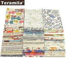 Teramila хлопок Ткань Цветы животные мультфильм дизайн Telas лоскутное Algodon ткань 50x50 см Tissu DIY детские одеяла подушка