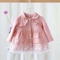 Spring And Autumn New Style Baby Girls Cardigan Jacket Coat Fashion Cute Infant Children Jacket Tops