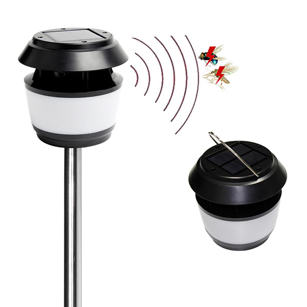 Solar Garden LED Light With Mosquito Repellent Ultrasonic Mosquito Repellent Lights LED Pin Lamp Hanging Lamp