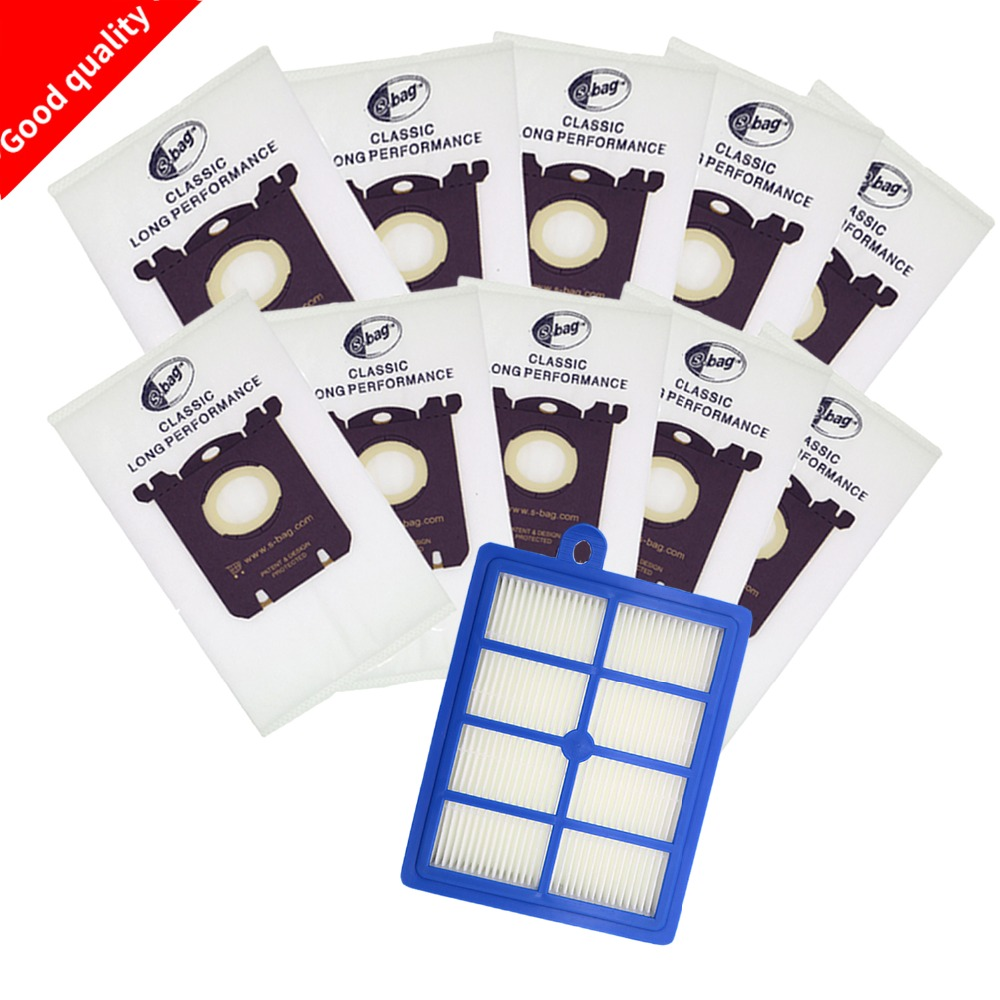 11pcs/set Free Shipping 1pc hepa filter 10pcs Dust Bags for Electrolux Vacuum Cleaner filter for electrolux hepa and S-BAG premium alto saxophone mouthpiece black
