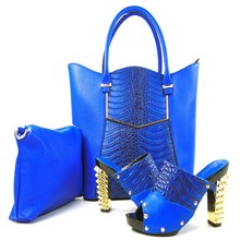 2017 Good Looking Matching Shoes And Bags Italy For Party Fashion African Shoes And Bag Set With Women Sandal TH16-08