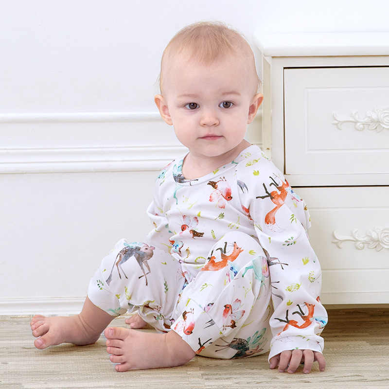 48d161cc22c53 Floral Pig Baby Rompers Autumn Winter Newborn Outfits Baby Boy Long Sleeve  Cute Rabbit Wing Rompers Jumpsuit Baby Girl Clothes